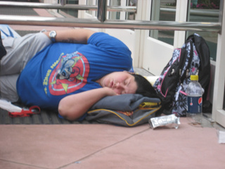 sleeping out sdcc