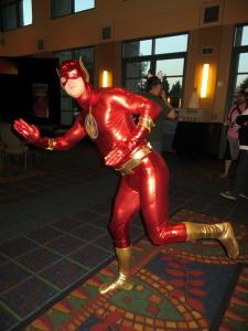 The Flash runs by.