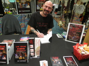 Author, Jim Cartwright at his table at Bent-Con.