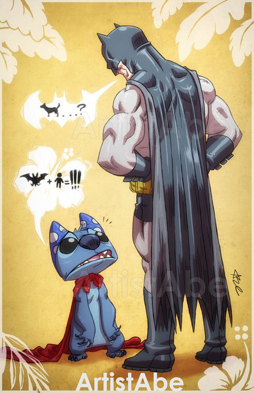 stitch-&-batman-lopez