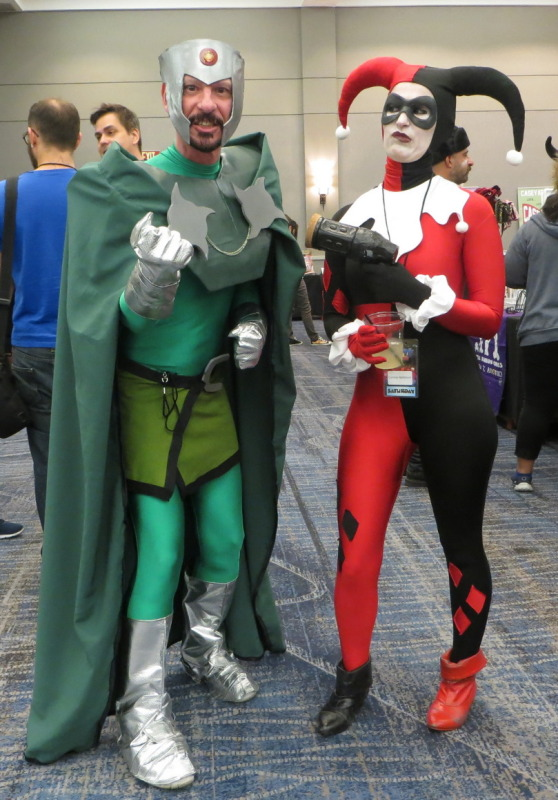 Your humble author...me as Professor Chaos (anime version) with Harley Quinn